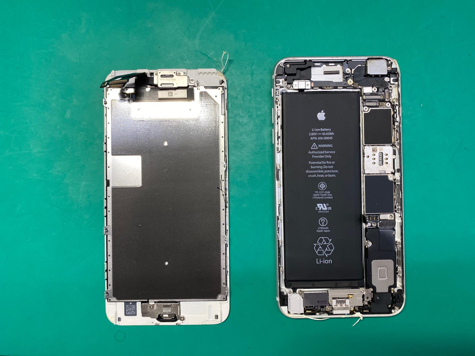 iPhone6sPのバッテリー交換で松本市内からご来店頂きました