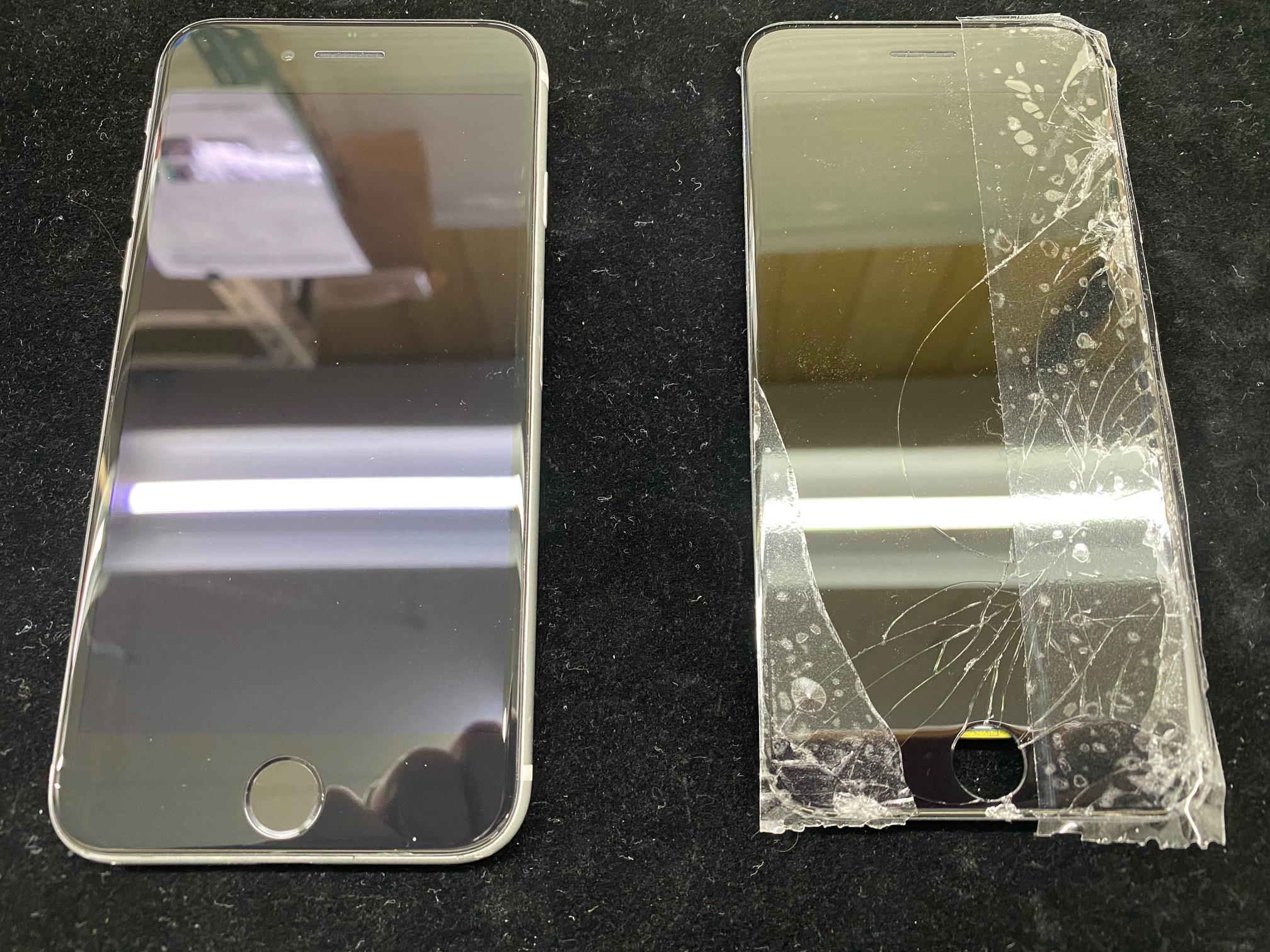 iPhoneSE2の画面ガラス割れ修理で松本市内からご来店頂きました