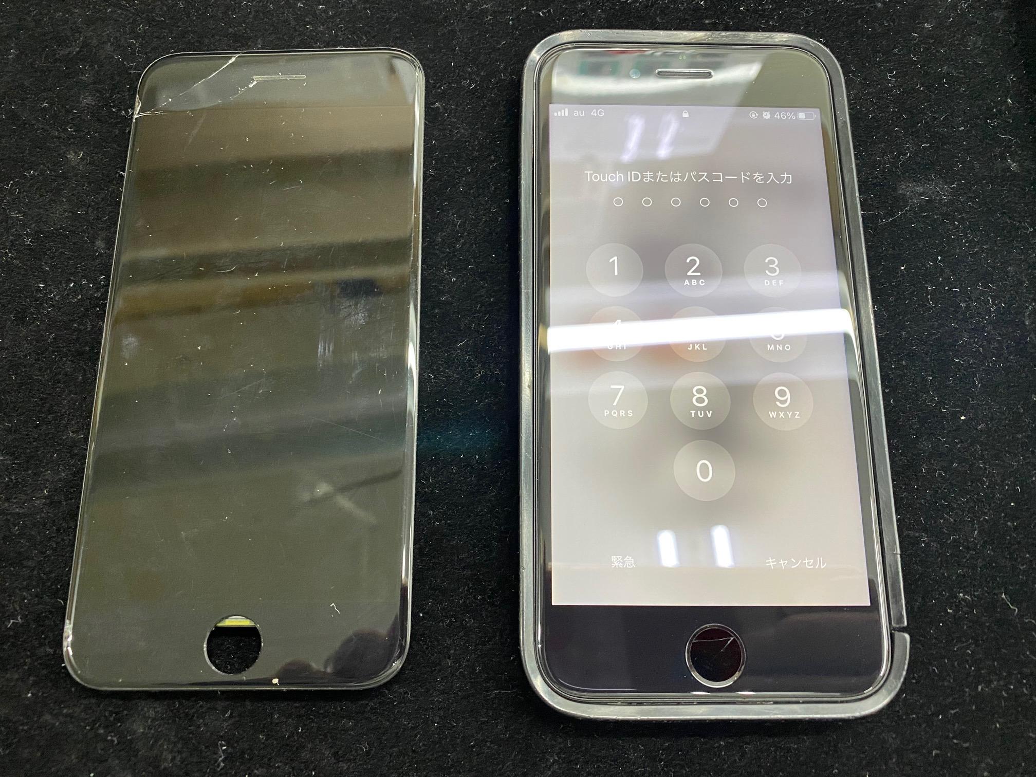 iPhone8液晶不良修理のお客様が松本市内からご来店されました