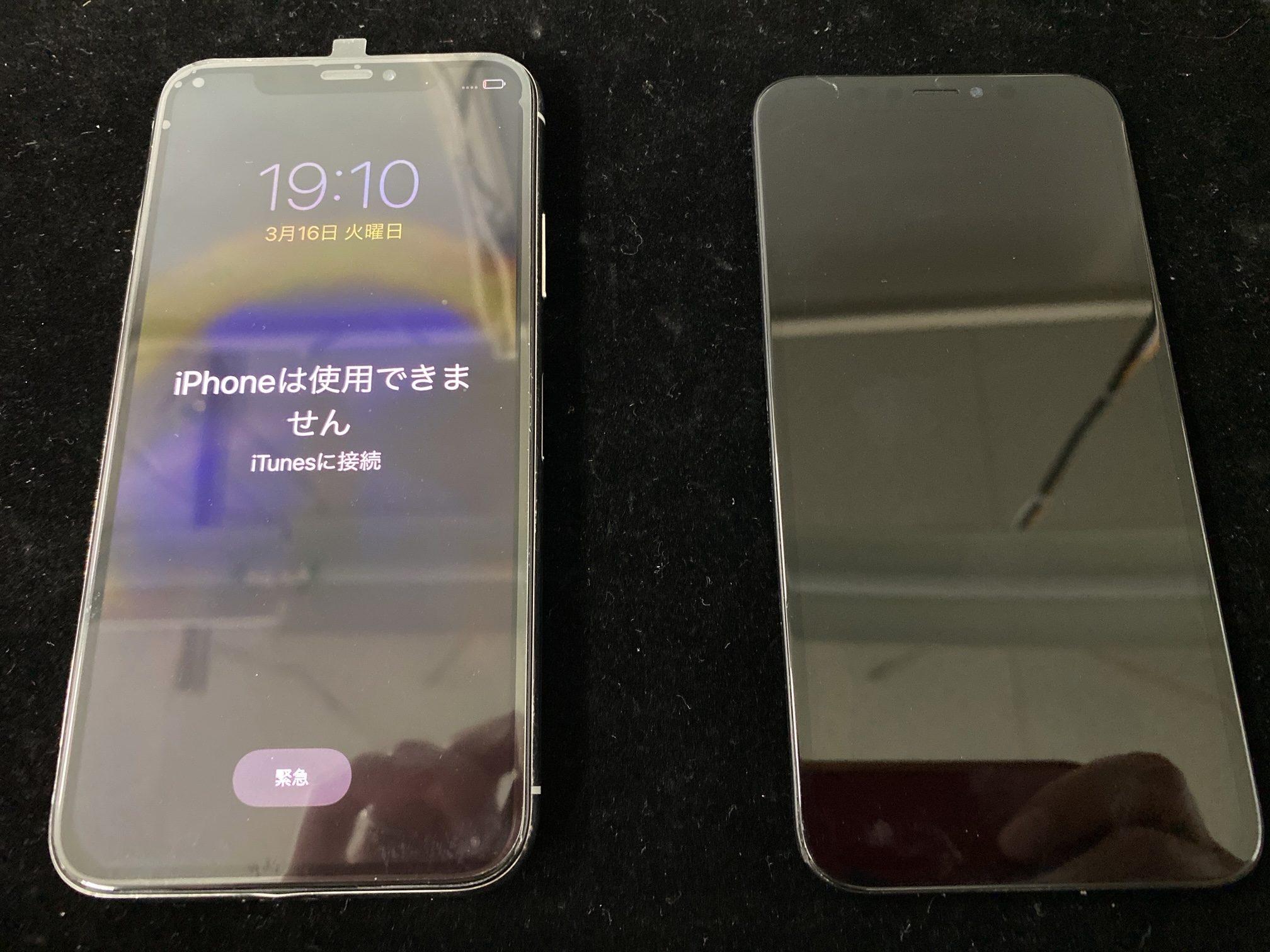 iPhoneX液晶不良修理