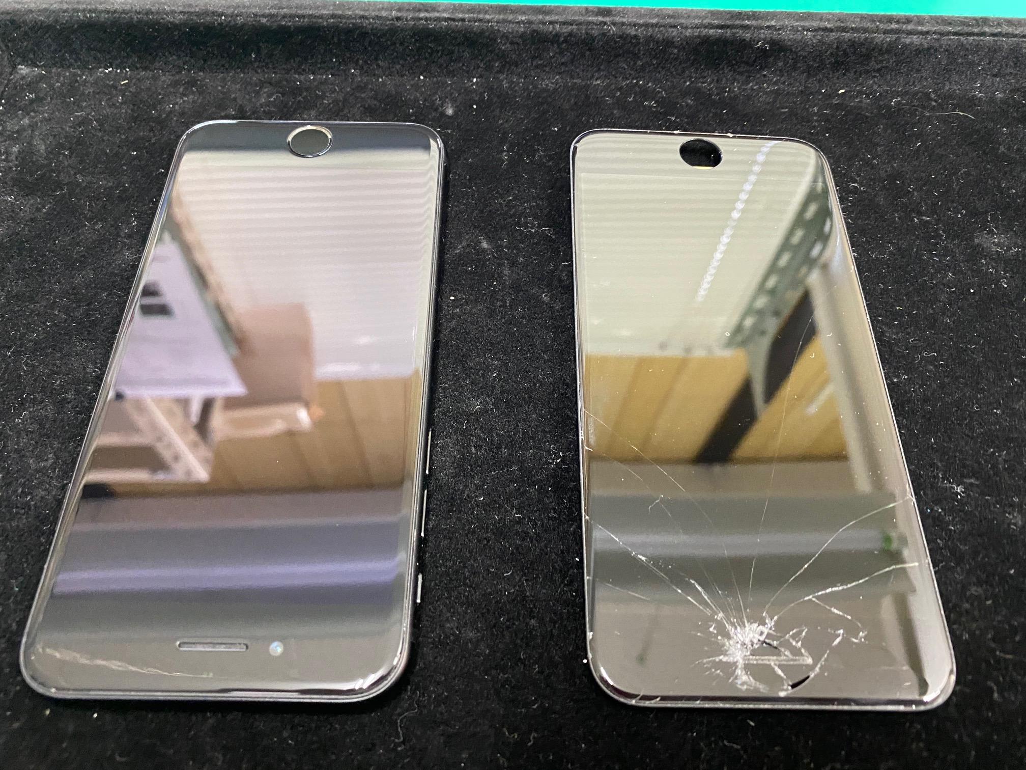 iPhoneSE2画面ガラス割れ修理