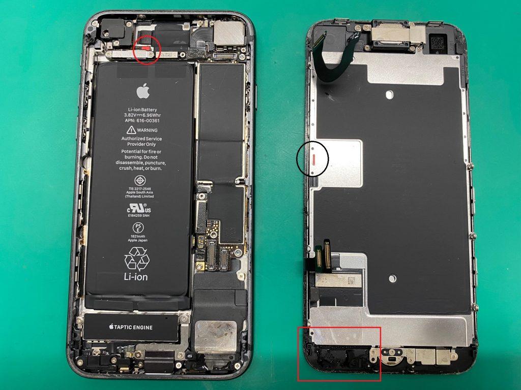 松本市iPhone8水没修理